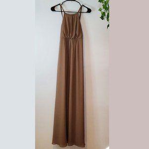 SHOW ME YOUR MUMU brown Slip Maxi dress SZ